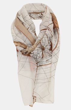 Topshop Map Print Scarf | Nordstrom