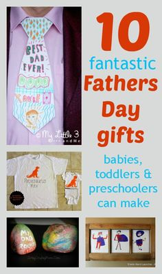 10 lovely Fathers' Day gifts children can make: ideas for babies, toddlers and older