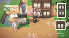 Animal Crossing Wild World, Animal Crossing Pocket Camp, Animal Crossing Game, Japanese Wall, Japanese Design, Japanese Animals, Motif Acnl, Garden Animals, Floor Patterns