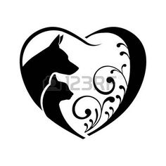 cat and dog yin and yang by blackshuck616 deviantart com on rh pinterest com Yin Yang Graphic Design Yin and Yang Shape Dog Cat Line Art