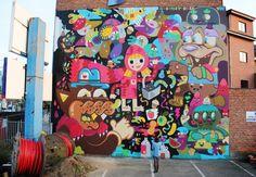 New street art at Hotel BLOOM / Oli-B