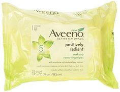 Aveeno Positively Radiant Cleansing Makeup Removing Wipes 25 Count Twin Pack -- Continue to the product at the image link. (This is an affiliate link) Zoella Makeup, Denitslava Makeup, Makeup Eraser, Makeup Books, Laduree Makeup, Androgynous Makeup, Makeup Night Out, Motives Makeup, Haloween Makeup