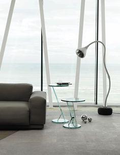Mesa auxiliar moderna de vidrio NICCHIO by Tonelli TONELLI Design