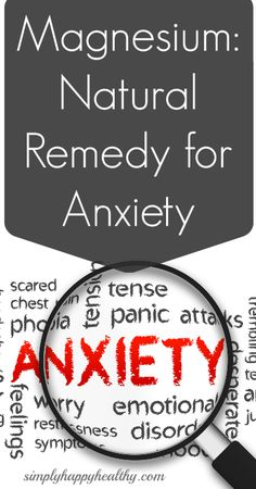 Read this article: Magnesium: Natural Remedy for Anxiety   Simply Happy Healthyand then check out the Pleximonies on how Plexus has helped others with anxiety. If you have any questions please con...
