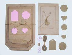 Verpackungsset Kraftpapier S Rosa von iLike_specials aus Berlin auf DaWanda.com