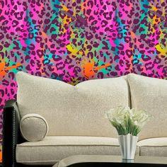 Adesivo de parede Leopard Color