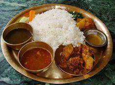 dhal bhat tarkari nepali rice set more food dinners nepali food nepal ...