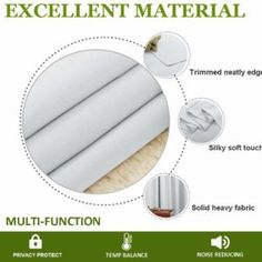 These White Blackout Curtains give you protection from the harmful rays of the sun and protect your valuable furniture.