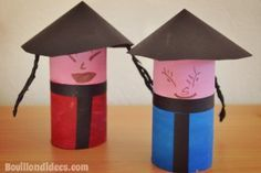 DIY DIY child Chinese New Year Chinese dolls with paper roll to . - DIY DIY child Chinese New Year Chinese dolls with toilet paper roll - Chinese Lights, Chinese Lanterns, Toilet Paper Crafts, Toilet Paper Roll, Chinese Crafts, Chinese Art, Deco Nouvel An, Diy For Kids, Crafts For Kids