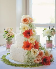 Colorful Wedding Cake.