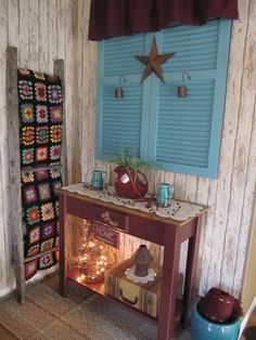 ...new color for old shutters...