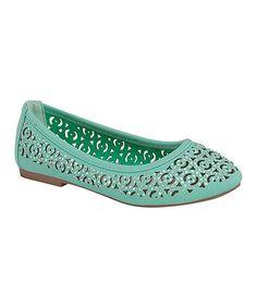 Mint Diana Flat #zulily #zulilyfinds