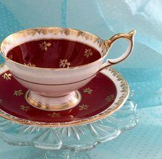 Vintage Aynsley Tea Cup Bone China Teacup Set by VintageTeacupShop