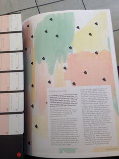 magazine pattern and layout