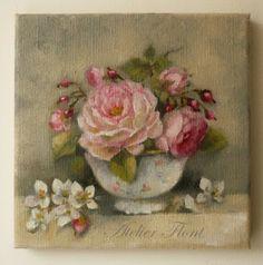 Roses, baies rouges et fleurs d'oranger by Helen Flont