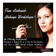 Get a FREE Airbrush Workshop Class worth p4k! With every purchase of a Deluxe Kit or Pro Kit from the #GlamBoxBeautyStudio or our hotline this season! #GlamBoxAirbrushCosmetics #glamboxairbrush #airbrushmakeup #airbrush #makeup #promo #deal #steal #bestdeal #makeupartistsworldwide #mua #makeupartist #makeupgeek #makeupaddict #makeupjunkie #makeuplover #beauty #cosmetics #free #freebies #makeupworkshop #makeupclass #professionalmakeup #beautyclass #beautyworkshop by glamboxbeautystudio
