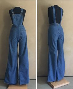 70s Women Fashion, 60s And 70s Fashion, Hipster Fashion, Denim Fashion, Overalls Vintage, Vintage Jumpsuit, Retro Dress, Overalls Outfit, Overalls Women