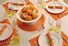 citrus table orange shower  grapefruit party theme orange lemon lime tangerine yellow green decor