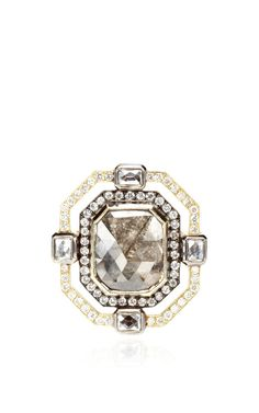 Art Deco Rough Diamond Ring by Sylva & Cie for Preorder on Moda Operandi