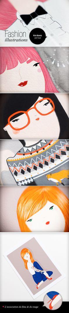 Kris Atomic #illustration #fashion