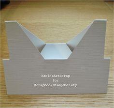 KarinsArtScrap: Nový tvar karty a novou výzvou