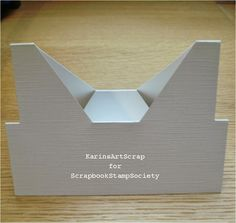 New Shaped card..... template in post plus example of finished card