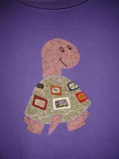 Tortuga   Modelos de camisetas con aplicaciones   Aprender manualidades es facilisimo.com