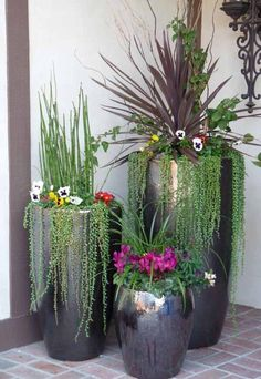 ✔ 38 cheap and easy landscaping ideas for front yard 24 Potted Plants Patio, Indoor Plant Pots, Outdoor Plants, House Plants, Front Yard Decor, Small Front Yard Landscaping, Landscaping Ideas, Small Patio, Decking Ideas