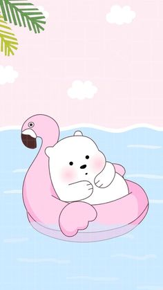 Ice Bear Uploaded Naty On We Heart It pertaining to Amazing We Bare Bears Wallpaper Baby Ice Bear - All Cartoon Wallpapers Cute Panda Wallpaper, Kawaii Wallpaper, Cute Wallpaper Backgrounds, Wallpaper Iphone Cute, Polar Bear Wallpaper, Girl Wallpaper, Wallpaper Quotes, Wallpapers Kawaii, Panda Wallpapers