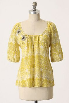 c0c42b1bc75d Rare Anthropologie Moscow in Bloom blouse by Edme & Esyllte - size 6 beaded  silk blouse