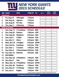 8 Best New York Giants Schedule Images New York Giants New York