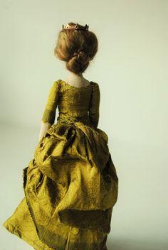 Royal cloth doll in Victorian dress by Willowynn