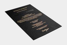 Gold Foil on Black Paper / Dinner Party Invitation / Stephen Webster Jewelry / Bliss & Bone