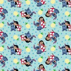 Disney Lilo & Stitch 63599 Ohana Means Family 100% Cotton Fabric By The Yard