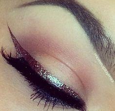 Eyes makeup inspiration - #sparkling #eyeliner #makeup