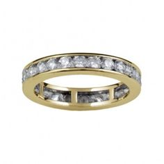 VENEZIA Channel Set Full Eternity Ring in 18ct Yellow Gold 3.7mm - 4.3mm  from Hatton Jewels
