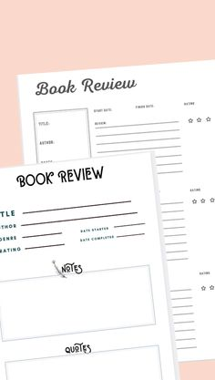 Free printable reading Trackers, book review templates for bookworms