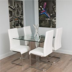 Soler Brushed Square Glass Dining Table   Overstock™ Shopping - Great Deals on Matrix Dining Tables
