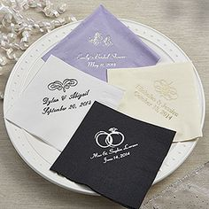 Create a special celebration with the Personalized Wedding & Bridal Shower Beverage Napkins. Find the best personalized party gifts and supplies at PersonalizationMall.com
