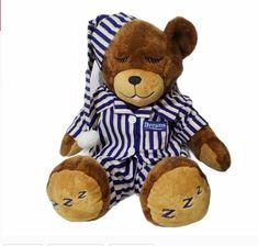 DREAMS brown Sleeping Teddy Bear Plush Stuffed Animal MediumPajamas Blue Pink Br #DREAMS Build A Bear, Plush Animals, Brown And Grey, Teddy Bear, Sleep, Dreams, Toys, Pink, Ebay
