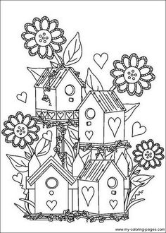 Landscapes Coloring Pages Coloringpages1001 OT Pinterest