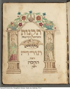 Taḳanot me-hevrutenu ha ḳedoshah Keter Torah : manuscript, Rotterdam, Netherlands, 1769-1783.  MS Hebrew 75   Houghton Library, Harvard University.