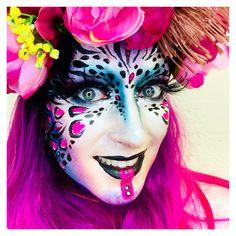 Leopard Indian Facepaint Make-up - Famous Last Words Famous Last Words, Fantasy Makeup, Airbrush, Make Up, Fashion Art, Body Art, Halloween Face Makeup, Color, Instagram