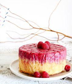 How 'berry' sweet... a raspberry upside-down cake!