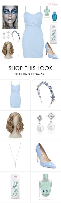 """""""Frost"""" by fashionova1 ❤ liked on Polyvore featuring Boohoo, Eugenia Kim, Blue Nile and Steve Madden"""