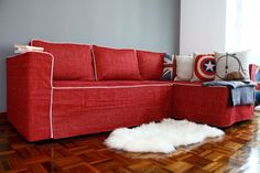 couch covers: delectable red couch slipcovers with captain america throw pillow target slipcovers sofa covers ikea recliner chair covers couch slip covers sofa covers walmart couch slipcovers walmart target futons Ikea Couch Covers, Futon Covers, Chair Covers, Sofa Cama Ikea, Tatami Futon, Diy Design, Ikea Design, Design Ideas, Design Room