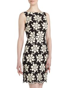 Embroidered Floral Sheath Dress by muse at Last Call by Neiman Marcus.