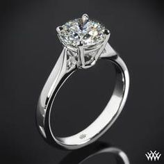 """Fine Line"" Solitaire Engagement Ring"