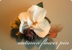 autumn flower pin {tutorial}