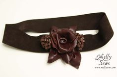 MYO Leather Belt. Awesome way to use scrap leather from Tandy